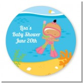 Under the Sea Hispanic Baby Girl Snorkeling - Personalized Baby Shower Table Confetti