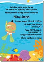 Under the Sea Hispanic Baby Snorkeling - Baby Shower Invitations