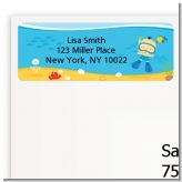 Under the Sea Asian Baby Boy Snorkeling - Baby Shower Return Address Labels