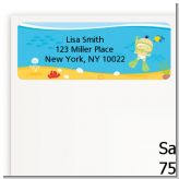 Under the Sea Asian Baby Snorkeling - Baby Shower Return Address Labels
