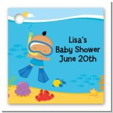 Under the Sea Hispanic Baby Boy Snorkeling - Personalized Baby Shower Card Stock Favor Tags