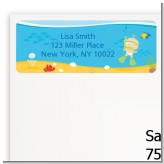 Under the Sea Baby Snorkeling - Baby Shower Return Address Labels
