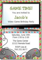 Video Game Time - Birthday Party Invitations