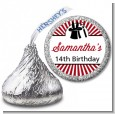 Vintage Magic - Hershey Kiss Birthday Party Sticker Labels thumbnail