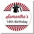 Vintage Magic - Round Personalized Birthday Party Sticker Labels thumbnail