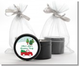 Vintage Red Truck With Tree - Christmas Black Candle Tin Favors