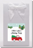 Vintage Red Truck With Tree - Christmas Goodie Bags
