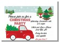 Vintage Red Truck With Tree - Christmas Petite Invitations thumbnail