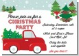 Vintage Red Truck With Tree - Christmas Invitations thumbnail