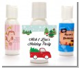 Vintage Red Truck With Tree - Personalized Christmas Lotion Favors thumbnail