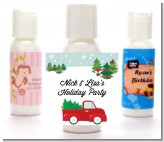 Vintage Red Truck With Tree - Personalized Christmas Lotion Favors