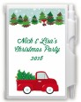 Vintage Red Truck With Tree - Christmas Personalized Notebook Favor thumbnail