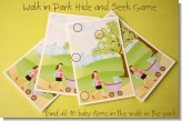 Walk in The Park Hide and Seek - Baby Shower Games