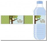 Owl - Look Whooo's Having A Boy - Personalized Baby Shower Water Bottle Labels