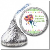 Wedding Bouquet - Hershey Kiss Bridal Shower Sticker Labels