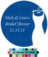 Custom Wedding Dress - Round Personalized Bridal Shower Sticker Labels thumbnail
