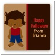 Werewolf - Square Personalized Halloween Sticker Labels thumbnail