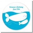 Whale Of A Good Time - Round Personalized Birthday Party Sticker Labels thumbnail