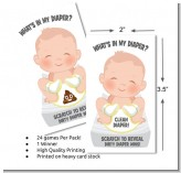 What's In My Diaper - Baby Shower Scratch Off Game Tickets