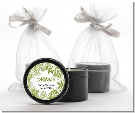 Winery - Bridal Shower Black Candle Tin Favors