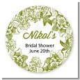 Winery - Round Personalized Bridal Shower Sticker Labels thumbnail