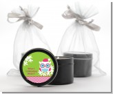 Winter Owl - Christmas Black Candle Tin Favors