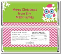 Winter Owl - Personalized Christmas Candy Bar Wrappers