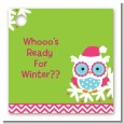 Winter Owl - Personalized Christmas Card Stock Favor Tags thumbnail