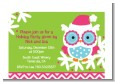 Winter Owl - Christmas Petite Invitations thumbnail