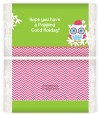 Winter Owl - Personalized Popcorn Wrapper Christmas Favors thumbnail