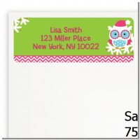 Winter Owl - Christmas Return Address Labels