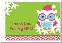 Winter Owl - Christmas Thank You Cards