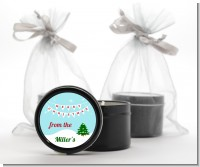 Winter Wonderland - Christmas Black Candle Tin Favors