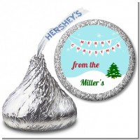 Winter Wonderland - Hershey Kiss Christmas Sticker Labels