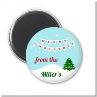 Winter Wonderland - Personalized Christmas Magnet Favors