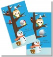 Owl - Winter Theme or Christmas - Baby Shower Scratch Off Game Tickets thumbnail