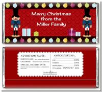 Wooden Soldiers - Personalized Christmas Candy Bar Wrappers