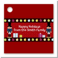 Wooden Soldiers - Personalized Christmas Card Stock Favor Tags
