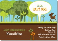 Woodland Forest - Baby Shower Invitations