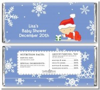 Christmas Baby Snowflakes - Personalized Baby Shower Candy Bar Wrappers
