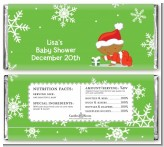 Christmas Baby Snowflakes African American - Personalized Baby Shower Candy Bar Wrappers