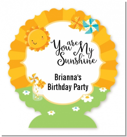 You Are My Sunshine - Personalized Birthday Party Centerpiece Stand
