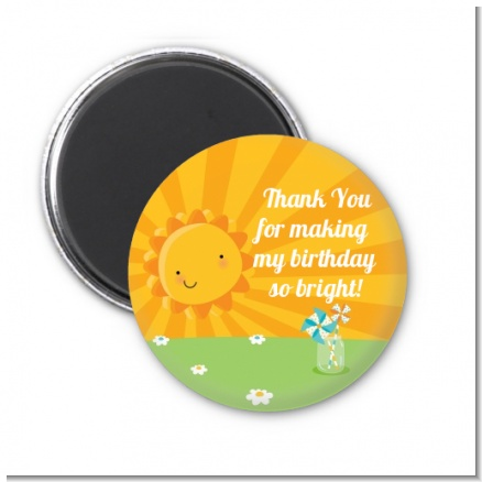 You Are My Sunshine - Personalized Birthday Party Magnet Favors