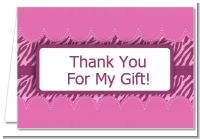 Zebra Print Baby Pink - Baby Shower Thank You Cards
