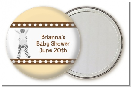 Zebra - Personalized Baby Shower Pocket Mirror Favors