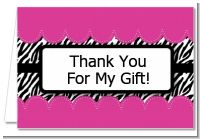 Zebra Print Pink - Birthday Party Thank You Cards