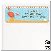 Crab | Cancer Horoscope - Baby Shower Return Address Labels