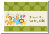 Zoo Crew - Birthday Party Thank You Cards