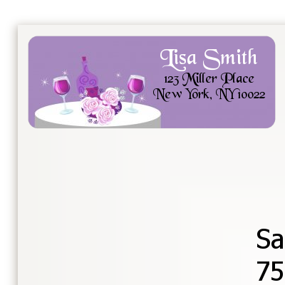 Wine Tasting - Bridal Shower Return Address Labels